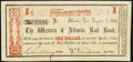 Atlanta, GA- Western & Atlantic Rail Road $1 Aug. 1, 1862 Very Fine
