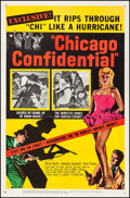 """Movie Posters:Film Noir, Chicago Confidential (United Artists, 1957). Very Fine- on Linen.One Sheet (27"""" X 41.25""""). Film Noir. From the Co..."""
