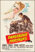 "Movie Posters:Mystery, Dangerous Partners (MGM, 1945). Fine/Very Fine on Linen. One Sheet (27.5"" X 41""). Mystery.. ..."