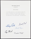 Autographs:Letters, Presidential Oath of Office Multi-Signed Page. ...