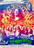 Music Memorabilia:Posters, Janis Joplin / Big Brother & the Holding Company 1968 Fresno Psychedelic Concert Poster.. ...