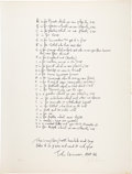 "Music Memorabilia:Memorabilia, The Beatles John Lennon Lithograph from the Bag One Series, ""Poet's Page."". ..."
