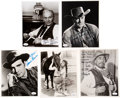 Music Memorabilia:Autographs and Signed Items, Milburn Stone/Dennis Weaver/James Arnes/Ken Curtis/Amanda Blake Signed and Inscribed Photos. . ...