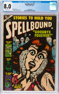 Spellbound #17 (Atlas, 1953) CGC VF 8.0 Off-white pages