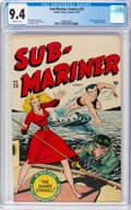Golden Age (1938-1955):Superhero, Sub-Mariner Comics #23 (Timely, 1947) CGC NM 9.4 Off-white pages....