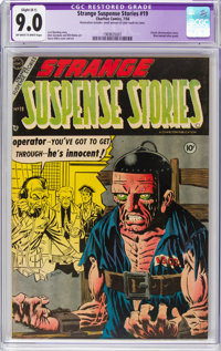 Strange Suspense Stories #19 (Charlton, 1954) CGC Apparent VF/NM 9.0 Slight (B-1) Off-white to white pages