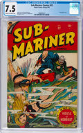 Golden Age (1938-1955):Superhero, Sub-Mariner Comics #22 (Timely, 1947) CGC VF- 7.5 Cream to off-white pages....