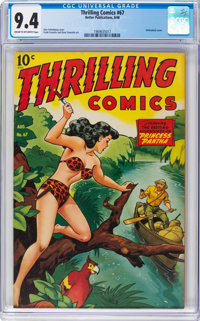 Thrilling Comics #67 (Better Publications, 1948) CGC NM 9.4 Cream to off-white pages