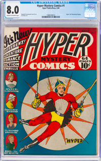 Hyper Mystery Comics #1 (Hyper Publications, 1940) CGC VF 8.0 Cream to off-white pages