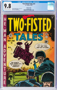 Two-Fisted Tales #21 Gaines File Pedigree 8/10 (EC, 1951) CGC NM/MT 9.8 Off-white to white pages