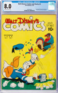 Golden Age (1938-1955):Cartoon Character, Walt Disney's Comics and Stories #2 (Dell, 1940) CGC VF 8.0 Cream to off-white pages....