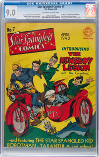Star Spangled Comics #7 (DC, 1942) CGC VF/NM 9.0 Off-white to white pages