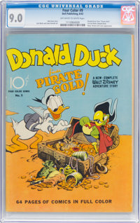 Four Color #9 Donald Duck (Dell, 1942) CGC VF/NM 9.0 Off-white to white pages