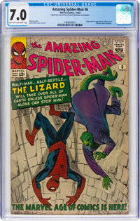 The Amazing Spider-Man #6 (Marvel, 1963) CGC FN/VF 7.0 Light tan to off-white pages