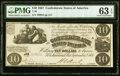 Confederate Notes:1861 Issues, T28 $10 1861 PF-10 Cr. 236B PMG Choice Uncirculated 63 EPQ.. ...