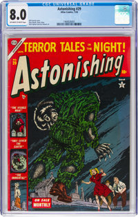 Astonishing #29 (Atlas, 1954) CGC VF 8.0 Off-white to white pages