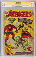 Silver Age (1956-1969):Superhero, The Avengers #2 Signature Series: Stan Lee (Marvel, 1963) CGC GD+ 2.5 Cream to off-white pages....