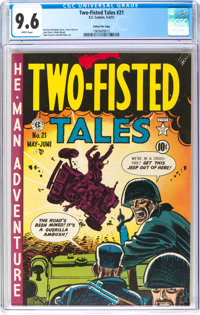 Two-Fisted Tales #21 Gaines File Pedigree (EC, 1951) CGC NM+ 9.6 White pages