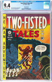 Two-Fisted Tales #22 Gaines File Pedigree 10/10 (EC, 1951) CGC NM 9.4 Off-white to white pages