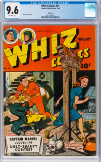 Whiz Comics #51 Rockford Pedigree (Fawcett Publications, 1944) CGC NM+ 9.6 Off-white pages