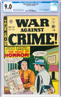 War Against Crime #10 (EC, 1949) CGC VF/NM 9.0 Off-white to white pages