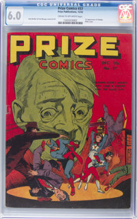 Prize Comics #37 (Prize, 1943) CGC FN 6.0 Cream to off-white pages