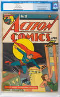 Golden Age (1938-1955):Superhero, Action Comics #23 (DC, 1940) CGC VG 4.0 Cream to off-white pages....