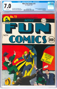 More Fun Comics #73 (DC, 1941) CGC FN/VF 7.0 White pages