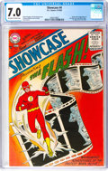 Silver Age (1956-1969):Superhero, Showcase #4 The Flash (DC, 1956) CGC FN/VF 7.0 Off-white to whitepages....