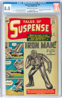 Tales of Suspense #39 Iron Man (Marvel, 1963) CGC VF 8.0 Cream to off-white pages