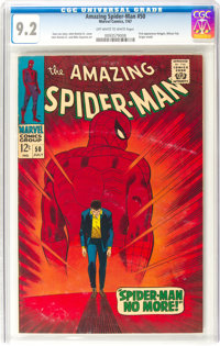 The Amazing Spider-Man #50 (Marvel, 1967) CGC NM- 9.2 Off-white to white pages