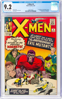 X-Men #4 (Marvel, 1964) CGC NM- 9.2 Off-white to white pages