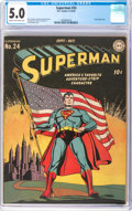 Golden Age (1938-1955):Superhero, Superman #24 (DC, 1943) CGC VG/FN 5.0 Cream to off-white pages....