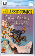Golden Age (1938-1955):Classics Illustrated, Classic Comics #12 Rip Van Winkle and the Headless Horseman Original Edition (Gilberton, 1943) CGC VF+ 8.5 Cream to off-white ...