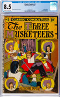 Golden Age (1938-1955):Classics Illustrated, Classic Comics #1 The Three Musketeers - Original Edition (Elliott, 1941) CGC VF+ 8.5 Off-white to white pages....
