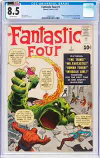 Fantastic Four #1 (Marvel, 1961) CGC VF+ 8.5 Off-white pages