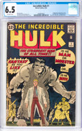 Silver Age (1956-1969):Superhero, The Incredible Hulk #1 (Marvel, 1962) CGC FN+ 6.5 Off-whitepages....