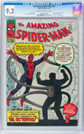 Silver Age (1956-1969):Superhero, The Amazing Spider-Man #3 (Marvel, 1963) CGC NM- 9.2 Cream tooff-white pages....