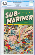 "Golden Age (1938-1955):Superhero, Sub-Mariner Comics #18 Davis Crippen (""D"" Copy) Pedigree (Timely, 1945) CGC NM- 9.2 Off-white pages...."