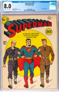 Superman #12 (DC, 1941) CGC VF 8.0 Off-white to white pages