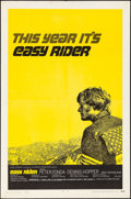 "Movie Posters:Drama, Easy Rider (Columbia, 1969). Folded, Very Fine-. One Sheet (27"" X41""). Drama.. ..."