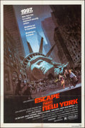 "Movie Posters:Science Fiction, Escape from New York (Avco Embassy, 1981). Folded, Very Fine-. One Sheet (27"" X 41""). Barry Jackson Artwork. Science Fiction..."