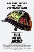 "Movie Posters:War, Full Metal Jacket (Warner Bros., 1987). Folded, Very Fine+. International One Sheet (27"" X 40.75"") SS. Phillip Castle Artwor..."