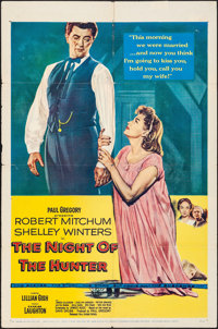 """The Night of the Hunter (United Artists, 1955). Folded, Fine/Very Fine. One Sheet (27"""" X 41""""). Film Noir"""