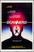"""Movie Posters:Horror, Scanners (Avco Embassy, 1981). Folded, Very Fine-. One Sheets (2)(27"""" X 41"""") Advance and Regular Styles. Horror.. ..."""