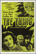 """Movie Posters:Science Fiction, The Thing from Another World (RKO, R-1957). Folded, Very Fine+. OneSheet (27"""" X 41""""). Science Fiction.. ..."""