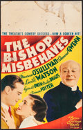 """Movie Posters:Comedy, The Bishop Misbehaves (MGM, 1935). Fine+. Window Card (14"""" X 22"""").Comedy.. ..."""