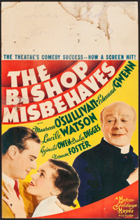"""The Bishop Misbehaves (MGM, 1935). Fine+. Window Card (14"""" X 22""""). Comedy"""