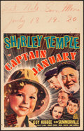 "Movie Posters:Musical, Captain January (20th Century Fox, 1936). Fine+. Window Card (14"" X 22""). Musical.. ..."