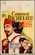 "Movie Posters:Drama, Cardinal Richelieu (United Artists, 1935). Fine. Window Card (14"" X22""). Drama.. ..."
